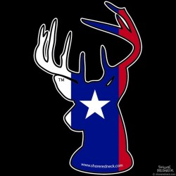 Shore Redneck Texas Buck Decal