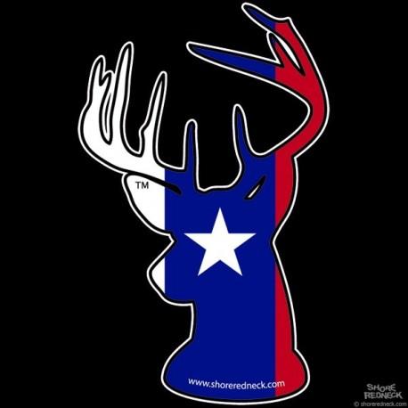 Shore Redneck Texas Buck Decal