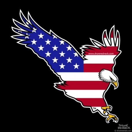 Shore Redneck USA Eagle Decal