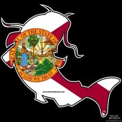 Shore Redneck Florida Catfish Decal