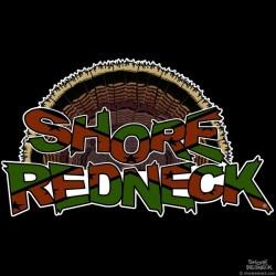 Shore Redneck Camo Dixie Turkey Fan Decal