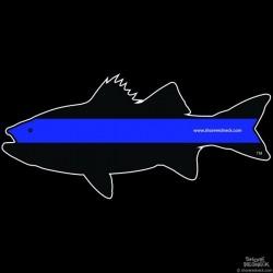 Shore Redneck Police Rockfish Striper  Decal