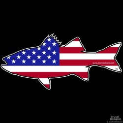 Shore Redneck USA Rockfish Striper  Decal