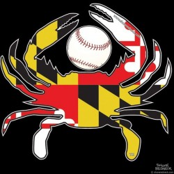 Shore Redneck MD Baseball Crab Decal