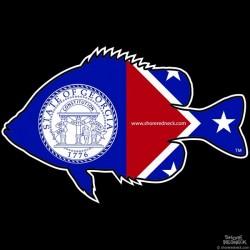 Shore Redneck Old Georgia Panfish Decal
