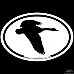 Shore Redneck Simple Flying Goose Oval Decal