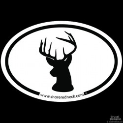Shore Redneck Simple Buck Oval Decal
