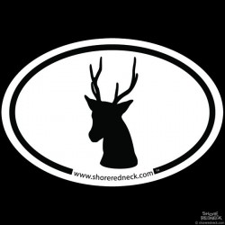 Shore Redneck Simple Sika Oval Decal