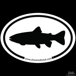Shore Redneck Simple Trout Oval Decal