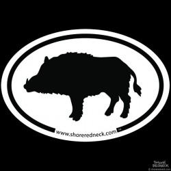 Shore Redneck Simple Boar Decal