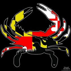 Shore Redneck MD Themed Hunter Crab Decal