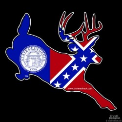 Shore Redneck Old Georgia Jumping Buck Decal