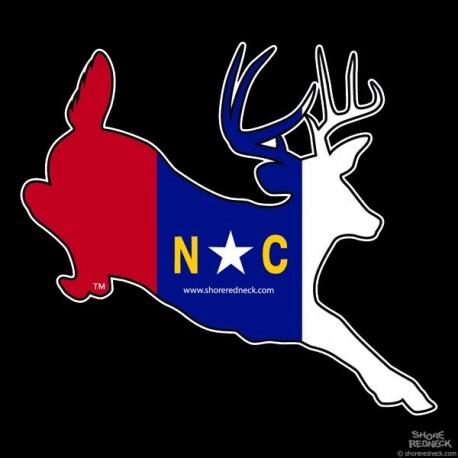Shore Redneck NC Jumping Buck Decal