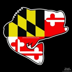 Shore Redneck Maryland Jumpin' Bass Decal