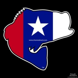 Shore Redneck Texas Jumpin' Bass Decal