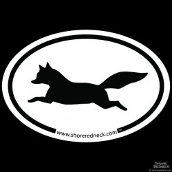 Shore Redneck Simple Fox On The Run Oval Decal