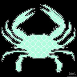 Shore Redneck Sea Foam Quatrafoil Crab Decal