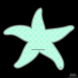 Shore Redneck Sea Foam Quatrafoil Starfish Decal