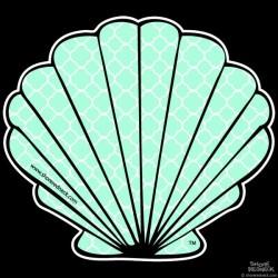 Shore Redneck Sea Foam Quatrafoil Fan Shell Decal