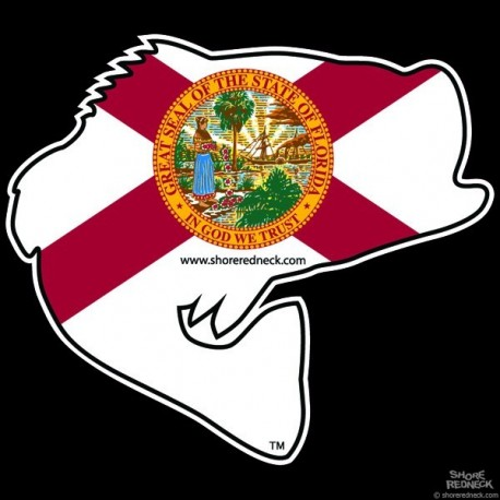 Shore Redneck Florida Jumpin' Bass Decal