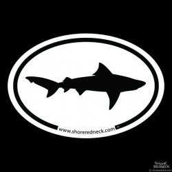 Shore Redneck Simple Shark Oval Decal