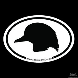Shore Redneck Wood Duck Head Oval Decal