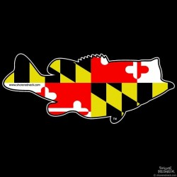 Shore Redneck Maryland Largemouth Decal