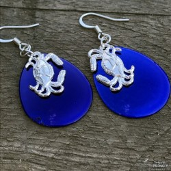 JGD Fishing Lure Crab Accent Earings