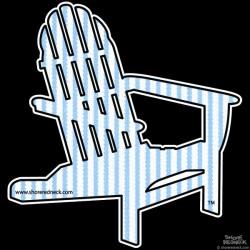 Shore Redneck Seer Sucker A Chair Decal