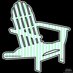 Shore Redneck Seer Sucker Mint A Chair Decal