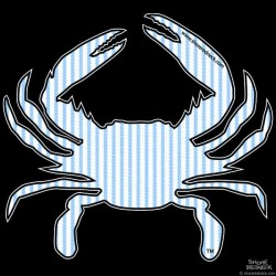 Shore Redneck Seer Sucker Crab Decal