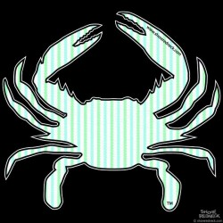 Shore Redneck Mint Seer Sucker Crab Decal