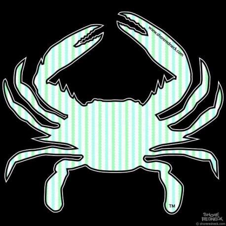Shore Redneck Mint Seer Sucker Crab Decal