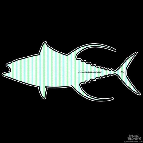 Shore Redneck Mint Seer Sucker Yellowfin Decal
