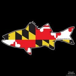 Shore Redneck Maryland Rockfish Striper  Decal