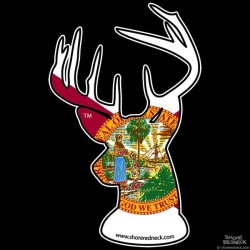 Shore Redneck Florida Buck Decal