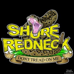Shore Redneck Don't Tread on Me Worn Classic Decal