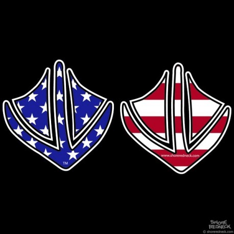 Shore Redneck Dixie Flag Duck Prints Decal