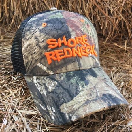 Shore Redneck Mossy Oak Camo Blaze Logo Mesh Snapback