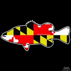 Shore Redneck Maryland Bass Decal