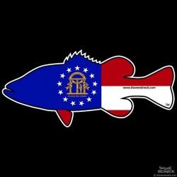 Shore Redneck Georgia Bass Decal