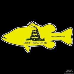 Shore Redneck Gadsden Bass Decal
