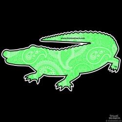 Shore Redneck Green Paisley Gator Decal