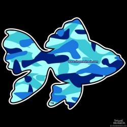 Shore Redneck Waterman Camo  Goldfish Decal