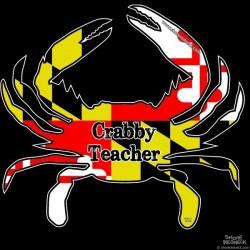 Shore Redneck MD Themed Crabby Teacher Decal