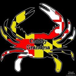 Shore Redneck MD Themed Crabby Grandma Decal