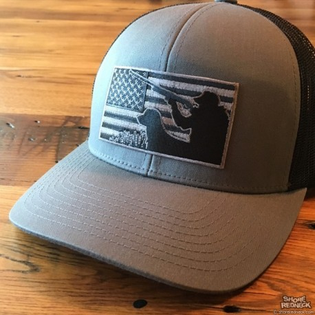 Shore Redneck Blackout Flag USA Waterfowler Hat