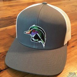 Shore Redneck Gray n White Wood Duck Hat