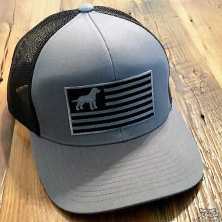 Shore Redneck Blackout Flag USA Gun Dog Hat
