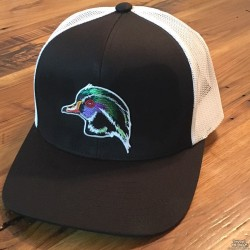 Shore Redneck Black n White Wood Duck Hat